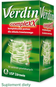 opakowanie Verdin Complexx - skuteczne tabletki na trawienie