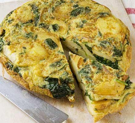 omlet jaglany ze szpinakiem