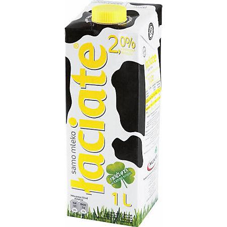 mleko łaciate w litrowym żółtym kartonie