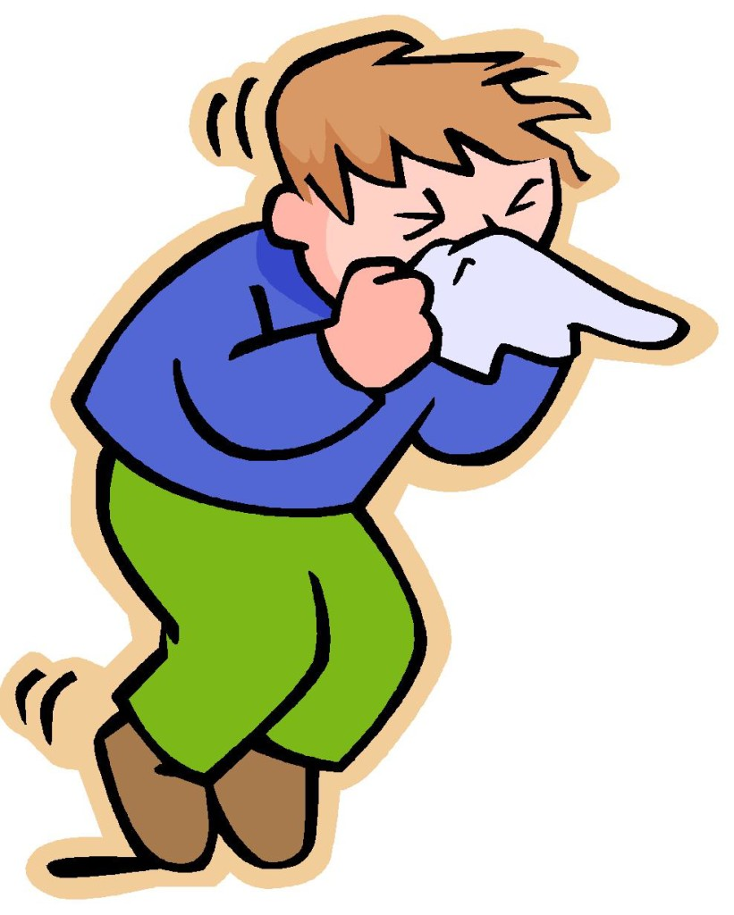 rysunkowy ludzik dmucha nos